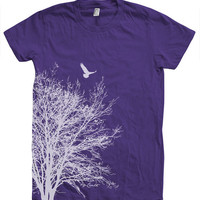 Women T shirt Tree Hand Screen Print American Apparel Available S, M , L, XL 13 Color Options