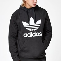adidas Trefoil Black Pullover Hoodie at PacSun.com