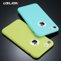 USLION Candy Color Phone Case For iPhone 7 Plus XS XR XS Max Soft Silicon TPU Back Cover Cases For iPhone X 7 6 6S Plus 5 5S SE