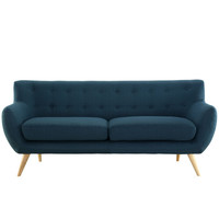 Mid-Century Plush Dual Cushion Sofa