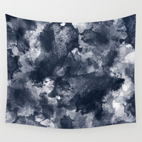 Warm Abstract Digital Paint Wall Tapestry by Elizabeth Schulz
