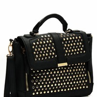 Allover Studs Faux Leather Purse
