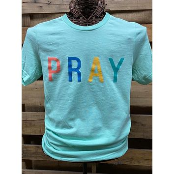 Southern Chics Apparel PRAY Canvas Bright T Shirt