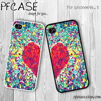 Sweet heart twin style : Handmade Case for Iphone 4/4s , Iphone 5 Case Iphone