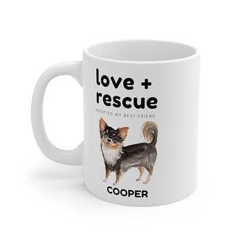 love + rescue Mug — Long Haired Chihuahua