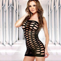 Sexy Cut Out Short Mini Dress Lingerie With G String 6 Colors