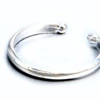 Sterling Silver .925 Plain Ear Cuff Wrap Include Special Gift Pouch.