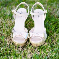Day At The Derby Wedge-Champagne - NEW ARRIVALS