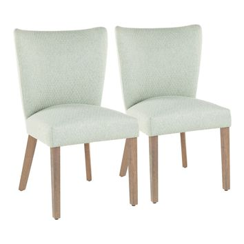 Addison Fabric Dining Chair Green - Set of 2