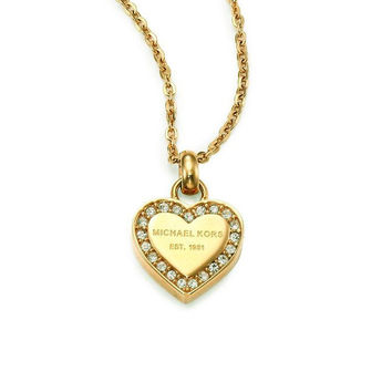 Jewelry New Arrival Gift Shiny Hot Sale Accessory Stylish Alloy Diamonds Simple Design Heart-shaped Necklace [8573752269]