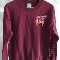 Odd Future Dripping Breast Logo Donut Sweater Mens Funy T-shirt - OFWGKTA Wolf Gang Tyler The Creator Unisex Jumper Christmas Gift