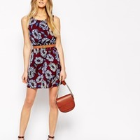 New Look Petite Waisted Floral Dress