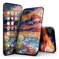 Oil Painted Meadow - 4-Piece Skin Kit for the iPhone 7 or 7 Plus