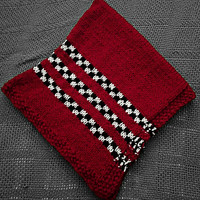 Baby Blanket, Baby Bedding, Knit, Red, Racing, Black and White Checks, Checkered Chequered