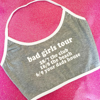 HIDDEN CULT Bad Girls Tour Grey Halter Top