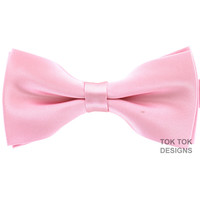 Tok Tok Designs Formal Dog Bow Tie for Medium & Large Dogs (B8, Light Pink)