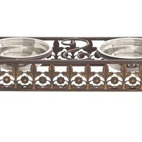 A.M.B. Furniture & Design :: Accessories :: Misc. Accessories :: Unique and Antique Themed Metal and Steel Pet Feeder