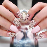 Beauty Urban Fashion Stiletto False Nails Full Nail Tips Modern Shinning Cheap Fake Nails For Sale Manicure Tools Free Shipping