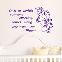 Housewares Winnie the Pooh Kids Tigger Nursery Children Wall Vinyl Decal Sticker Quote Art V218