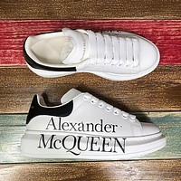 Alexander McQueen Classic white shoes-16