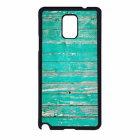Teal Wood Samsung Galaxy Note 4 Case