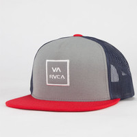 Rvca All The Way Ii Mens Trucker Hat Grey One Size For Men 22768011501