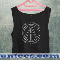 Alice in Chains AIC Logo Womens Crop Tank