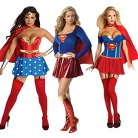 Wonder Woman Super Girl Cosplay Costumes