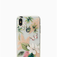 jeweled botanical iPhone x case | Kate Spade New York