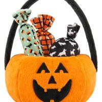 Howl-o-ween Treat Basket Plush Dog Toy