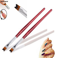 AddFavor 1pcs Nail Art Brushes Tools Crescent Moon Gel Nails Painting Brushes French Beauty Nail Drawing Painting Design Makeup