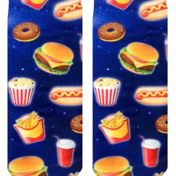 Fast Food Galaxy Ankle Socks
