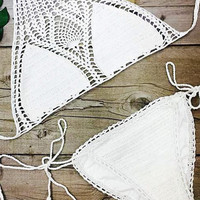 Cupshe Sweet Nothings Crochet Bikini Set