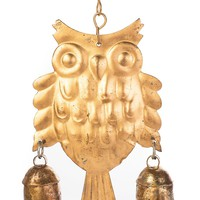 Owl Chime With Three Desert Bells