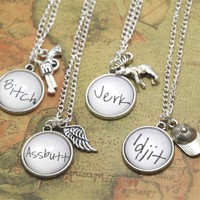 12pcs/lot ORIGINAL DESIGN Supernatural Nickname Necklaces - Best Friend Necklaces  Supernatural Jewelry  Fandom Jewelry