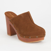 Bamboo Wilson Womens Clogs Brown  In Sizes