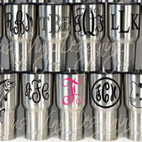 Monogram Tumbler, RTIC Tumbler, Stainless Tumbler, Wedding party favor