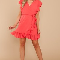 Hold Out For Me Coral Pink Dress