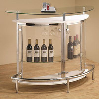 Home Bar Glass Furniture Modern Storage Liquor Cabinet Mini Wine Vodka Tempered