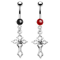 Belly Ring- Gothic Cross
