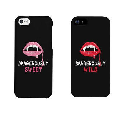 Image of Dangerously Sweet And Wild Lips Cute BFF Matching Phone Cases Gift