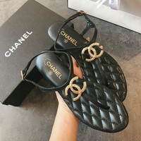 Hot Sale Gold/black Sandal