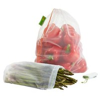 The Container Store > White Reusable Produce Bags