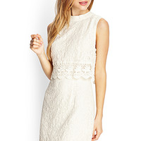 FOREVER 21 Crochet Lace Flounce Dress