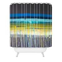 Kent Youngstrom urban stripes Shower Curtain