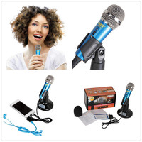 Mini Pocket Microphone Cell Phone Karaoke Player for Any Cell Phone Tablet PC Home KTV Recorder