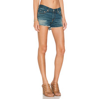 Low Waisted Pleated Denim Shorts