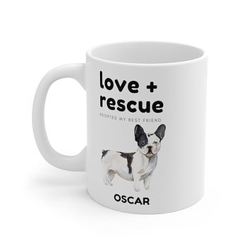love + rescue Mug — French Bulldog