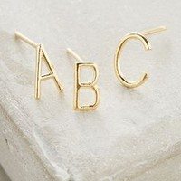 Monogram Posts by Anthropologie in Gold Size: