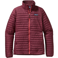 PATAGONIA WOMEN'S DOWN SHIRT IN OXBLOOD RED